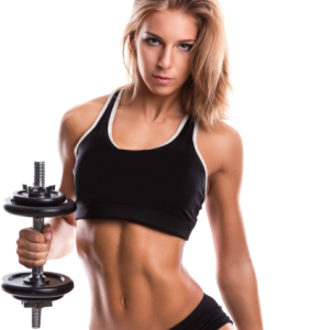 Girl working out with weight