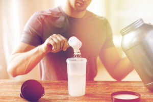 Man preparing Protein Shake